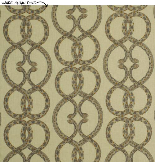 Dwell Studio's Snake Chain wallpaper